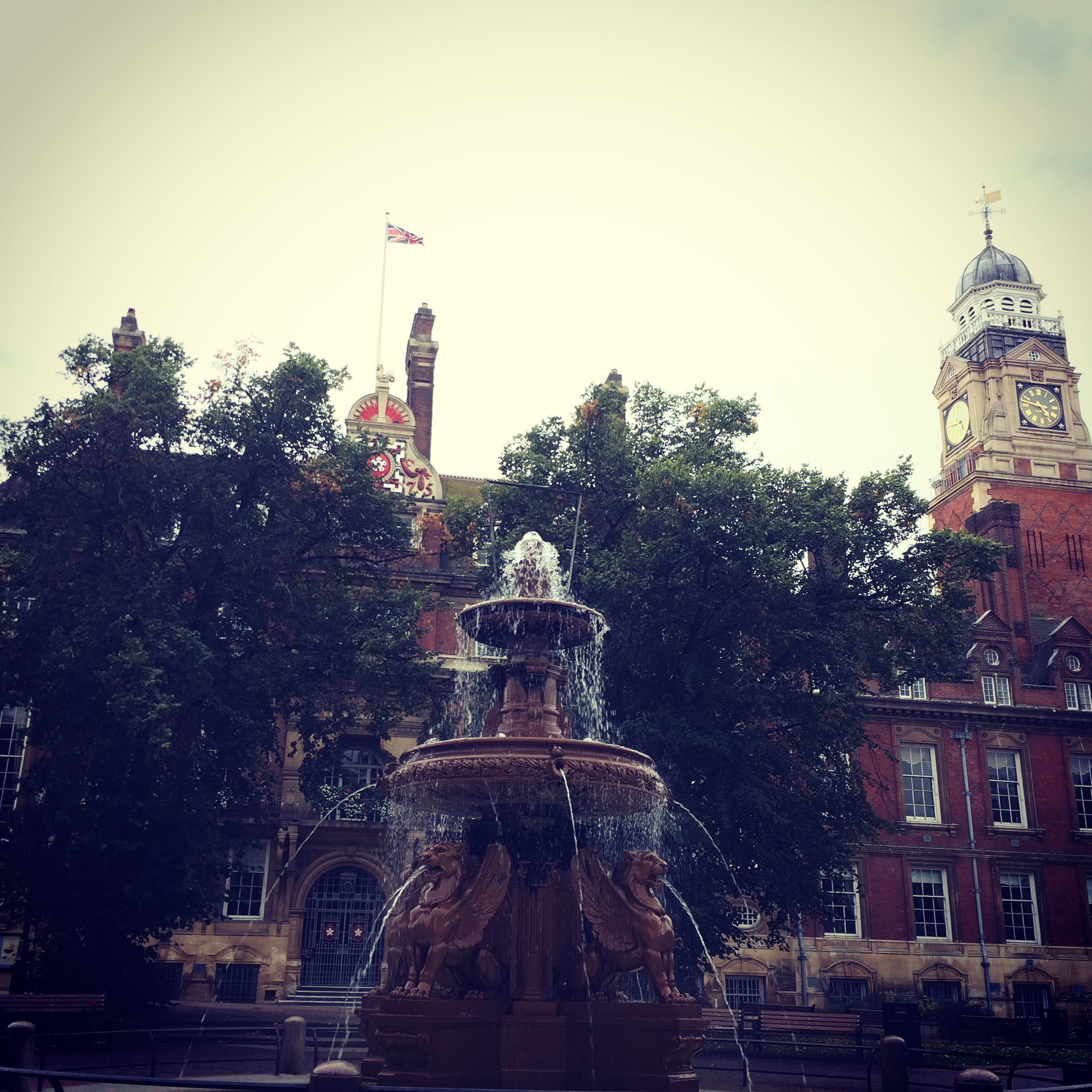 Leicester Town Hall. Doesn't look bad, but smells a bit dodgy..